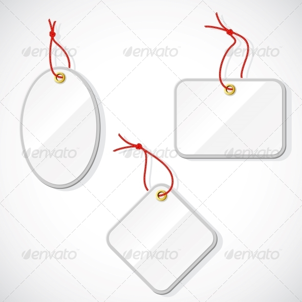 GraphicRiver Set of Plastic Tags on the Rope 4446716