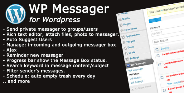 CodeCanyon WP Messager Premium Wordpress Plugin 4446743
