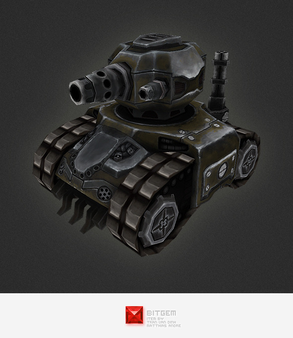 3DOcean Low poly RTS Tank 01 4439000