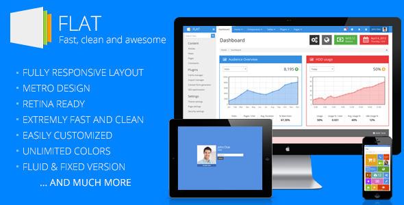 FLAT - Responsive Admin Template - Admin Templates Site Templates