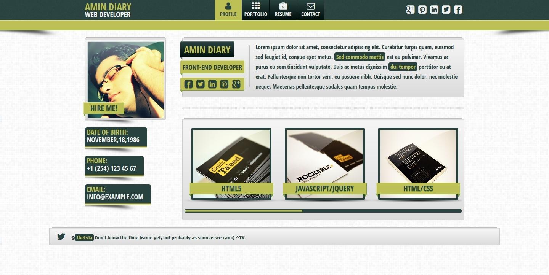 Fresh  vCard - Responsive Personal vCard