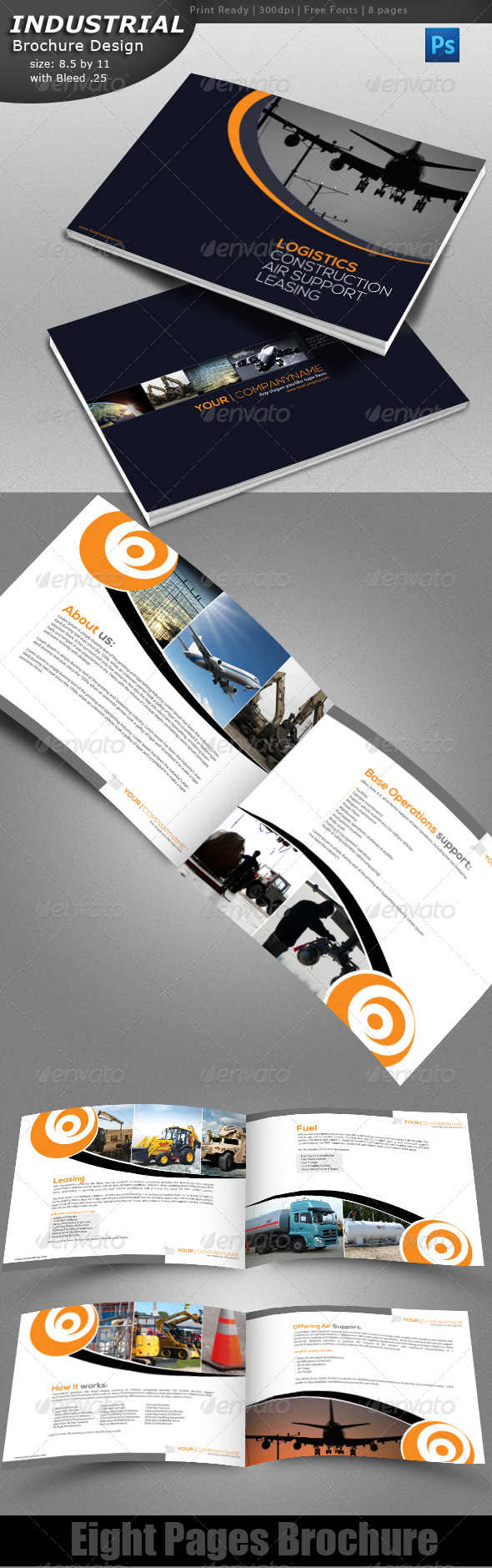 GraphicRiver Industrial Brochure 4331424