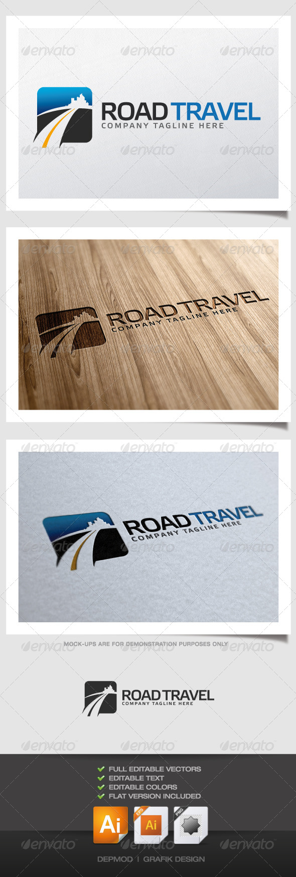 GraphicRiver Road Travel Logo 4448848