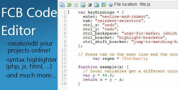 CodeCanyon FBC Code Editor 4441199