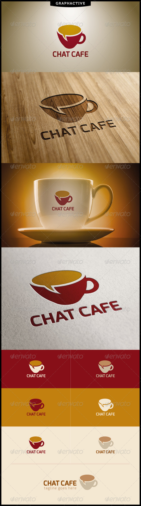 GraphicRiver Chat Cafe Logo Template 4449214