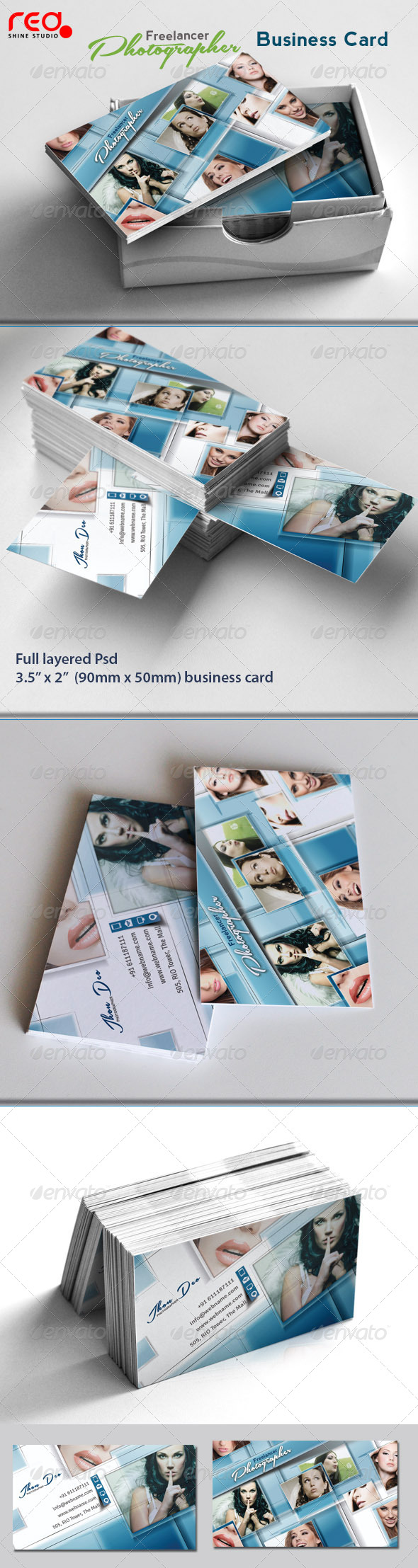 GraphicRiver Freelance Photographer Business Card 01 4449237