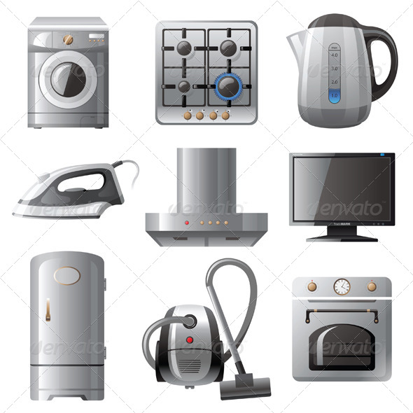 GraphicRiver Household Appliances 4449522
