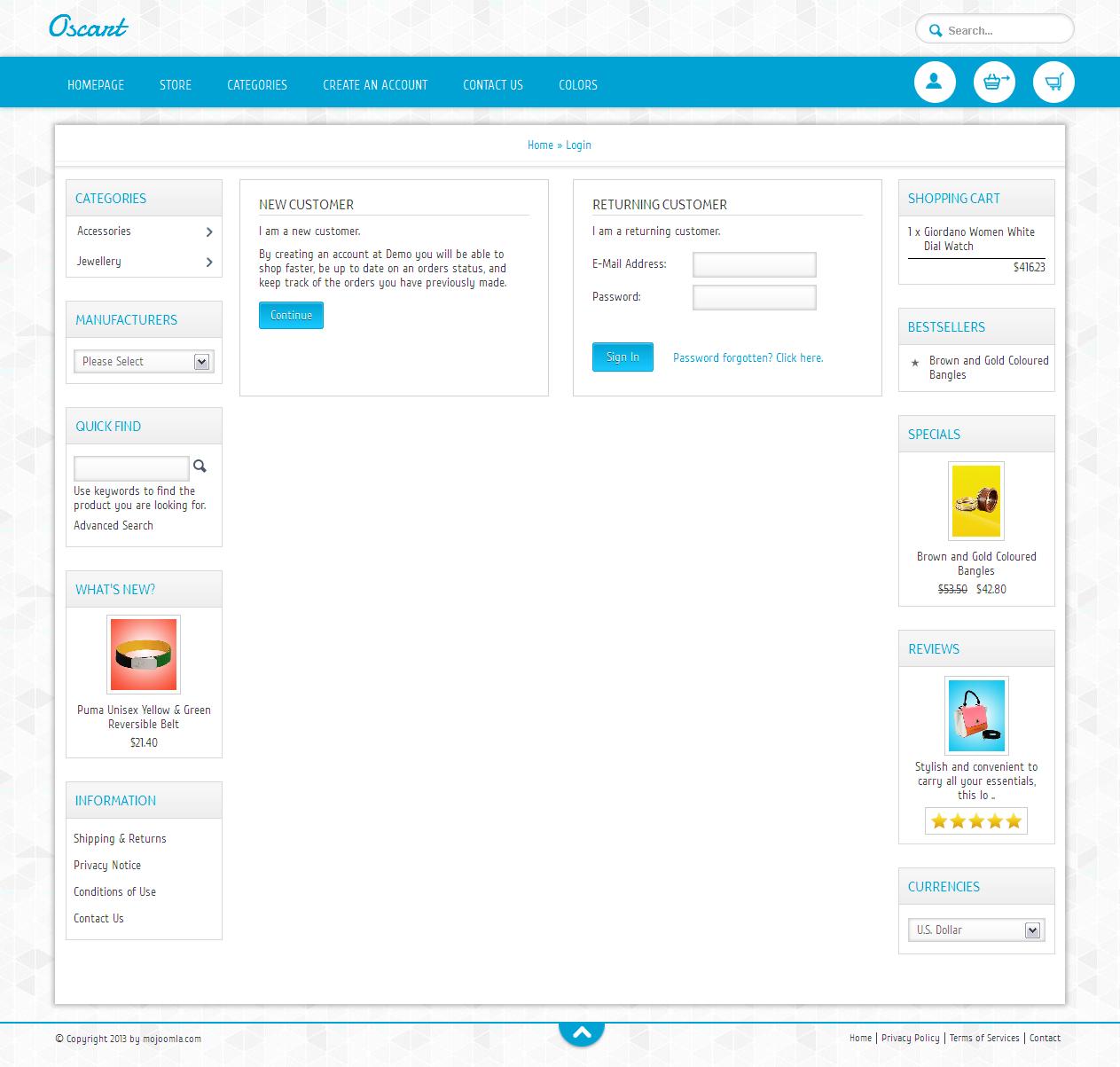 Oscart- Mobile ready OsCommerce theme