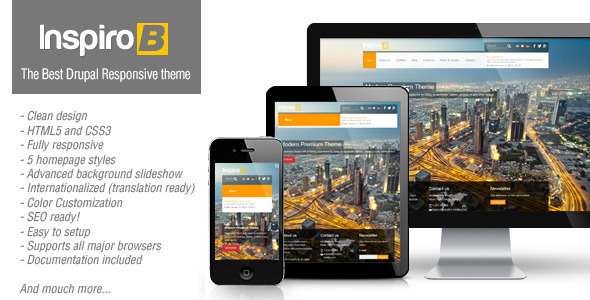 Image of Inspiro B - Responsive Theme for Drupal 7