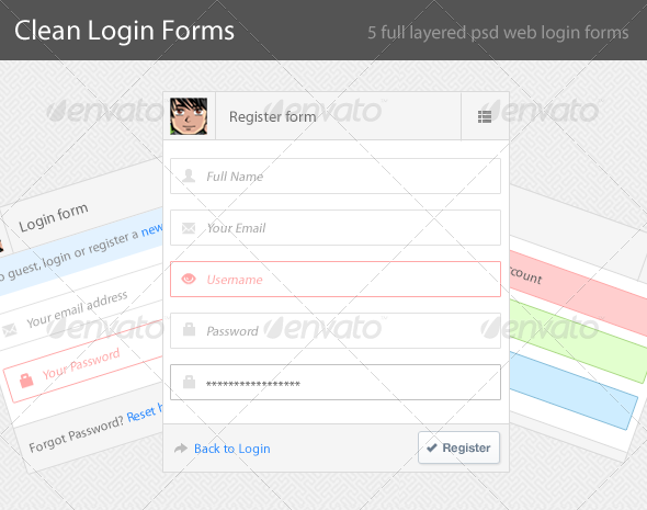GraphicRiver Simple and Clean Login Screen 4449649