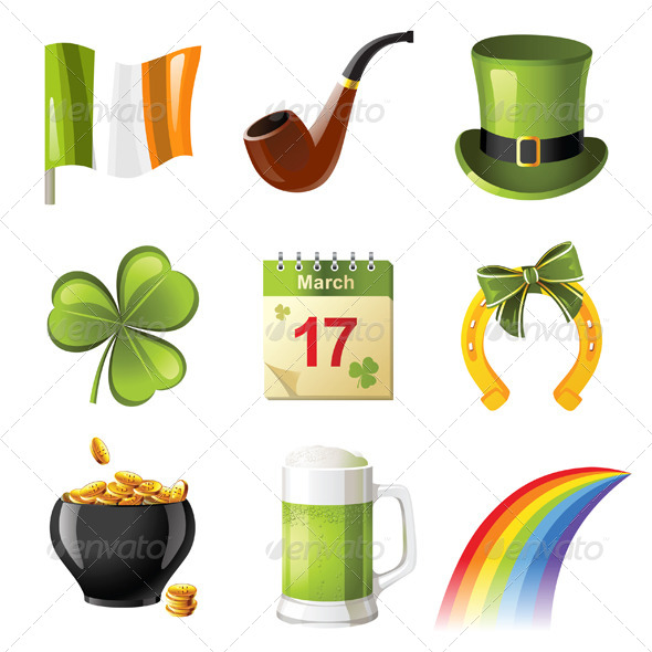 GraphicRiver St Patrick s Day Icons 4449650