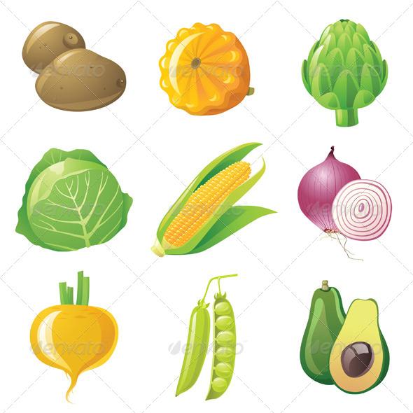 GraphicRiver Vegetables Set 4449654