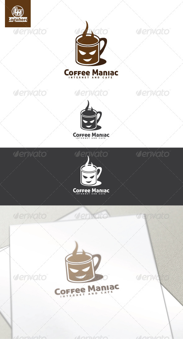GraphicRiver Coffee Maniac Logo Template 4449787