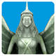 Low Poly Monument Angels - 3DOcean Item for Sale