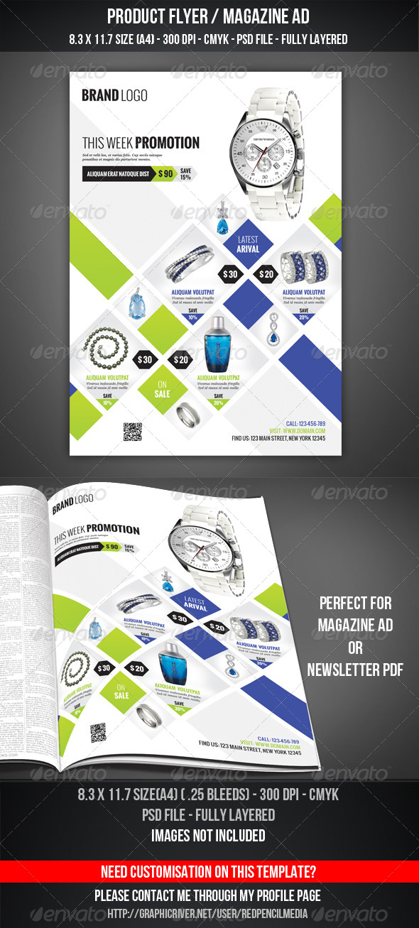GraphicRiver Product Flyer Magazine AD 4450329