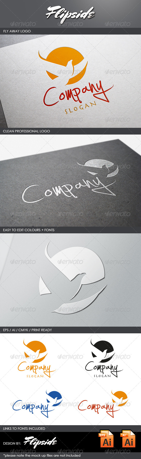 GraphicRiver Fly Away logo 4450333