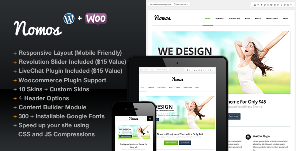 ThemeForest Nomos Clean Multi-Purpose Business Theme 4441275