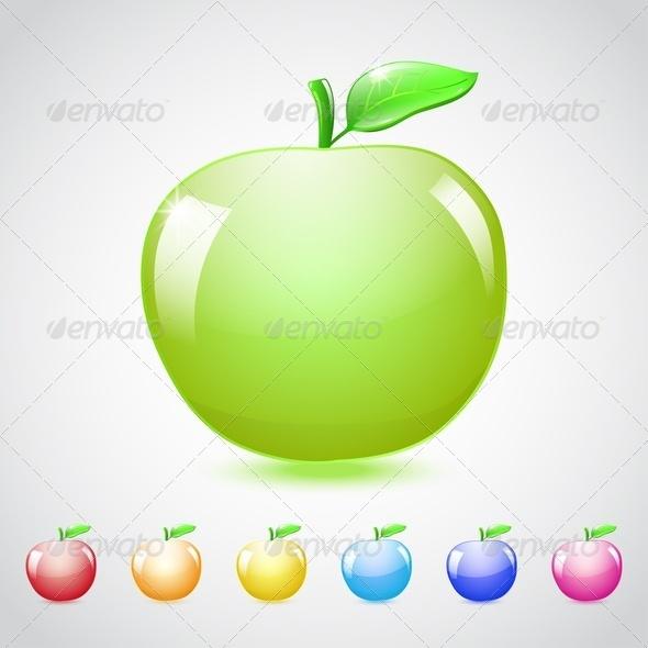 Set Of Glass Apples