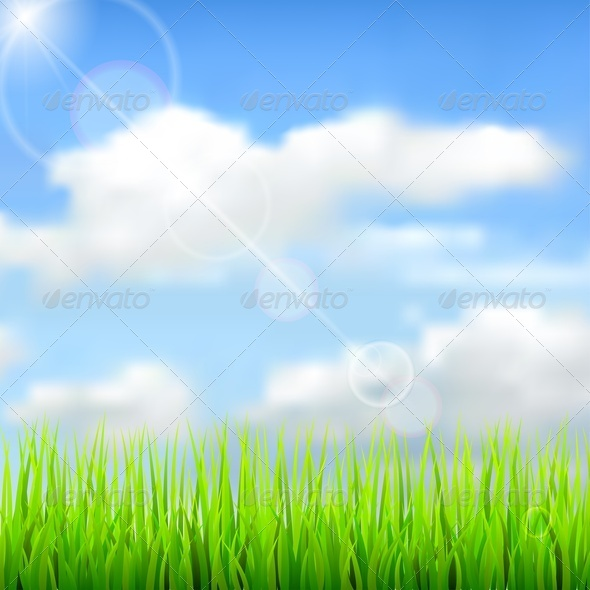 GraphicRiver Nature Spring Background 4450635