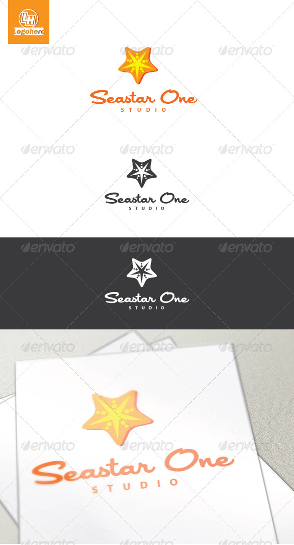 Seastar One Logo Template - Animals Logo Templates