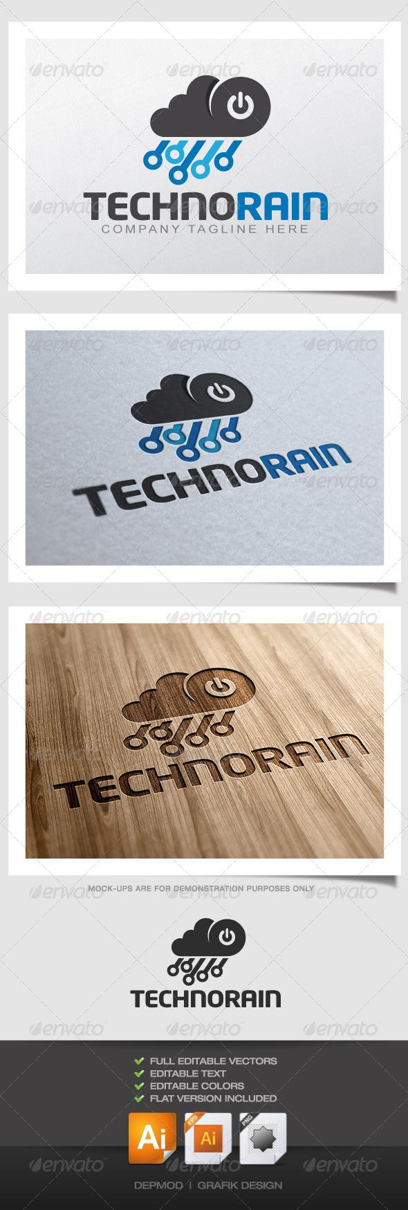 GraphicRiver Techno Rain Logo 4450785