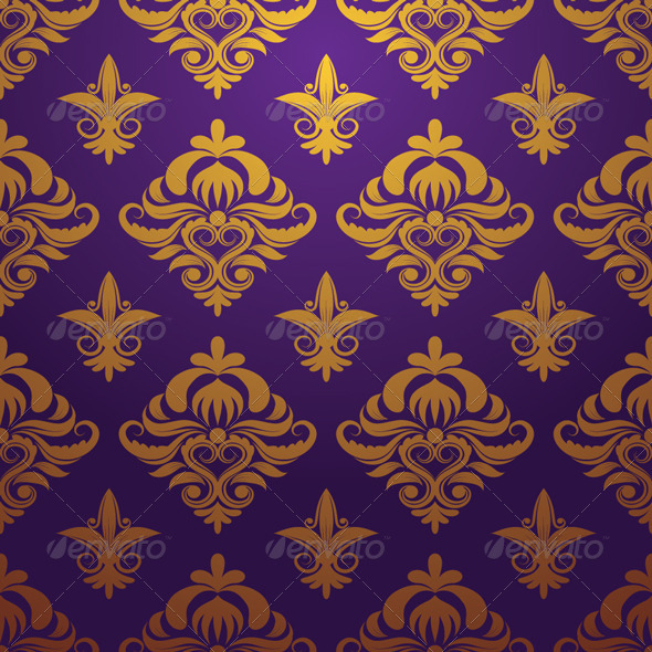 GraphicRiver Gold and Purple Parttern Ornament 4450798