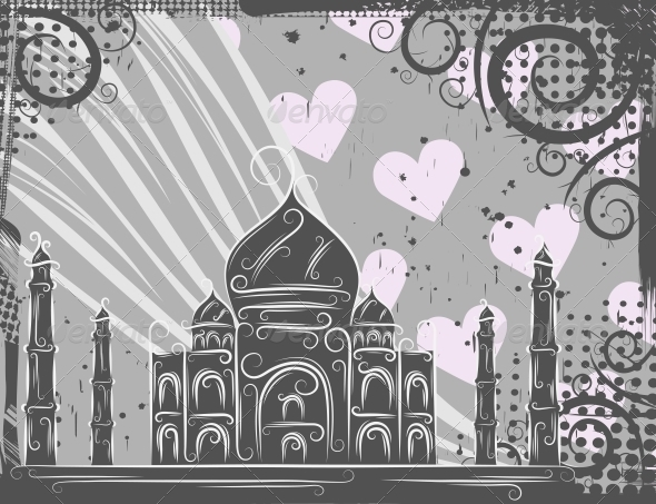 GraphicRiver Taj Mahal Background 4451398