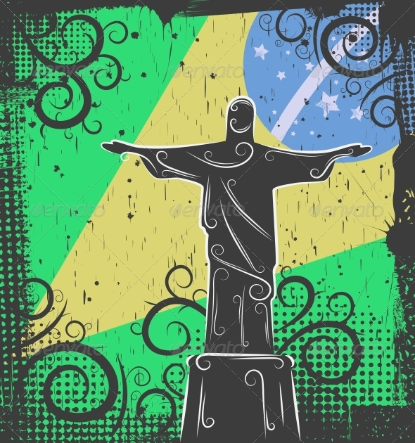 GraphicRiver Statue of Christ the Redeemer Background 4451444