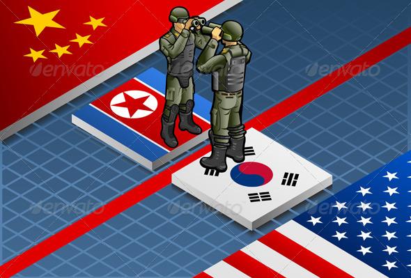 GraphicRiver Isometric Corea Crisis 4451460