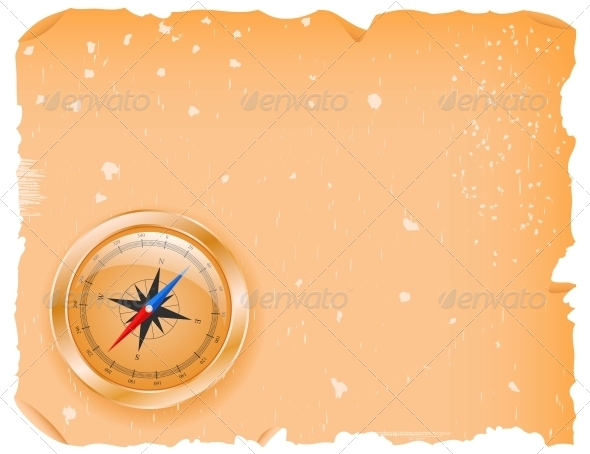 GraphicRiver Compass with a Paper 4451533