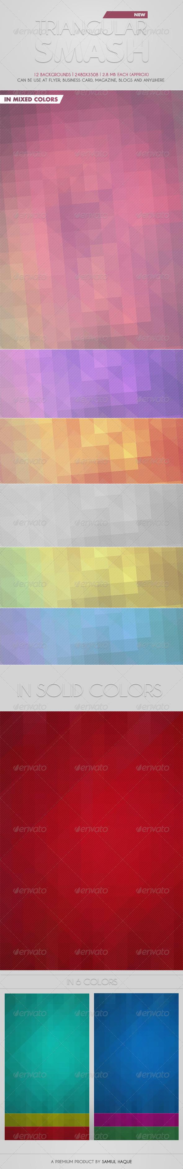 GraphicRiver Triangular Smash Background 4451731