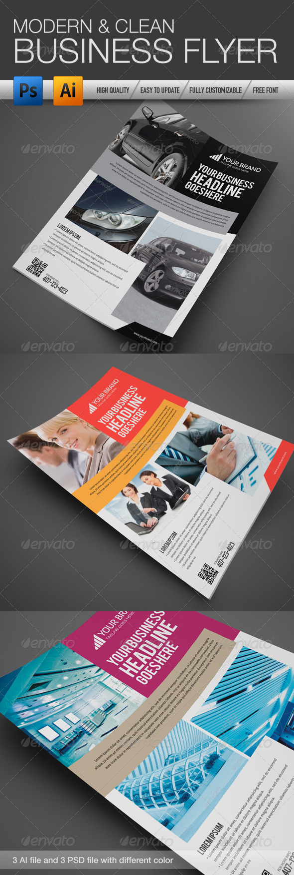 GraphicRiver Professional and Clean Business flyer 3 4344987