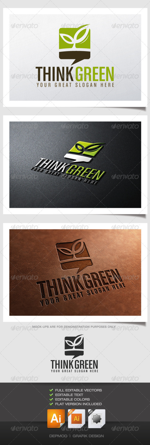 GraphicRiver Think Green Logo 4451988