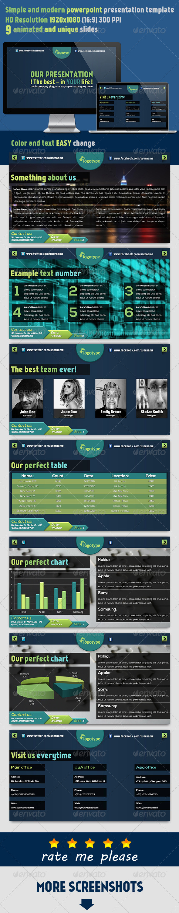 GraphicRiver Cusdom Powerpoint Presentation 4353852