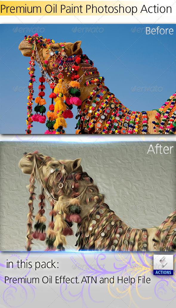 GraphicRiver Premium Oil Paint Effect Action 4452100