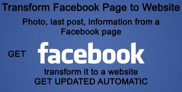 Transform Facebook Page to Website