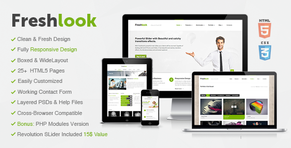 ThemeForest Freshlook Responsive MultiPurpose HTML5 Template 4452404