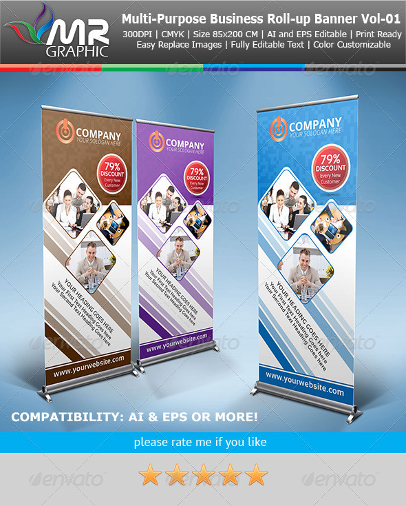 GraphicRiver Multipurpose Business Roll-Up Banner Vol-01 4119723
