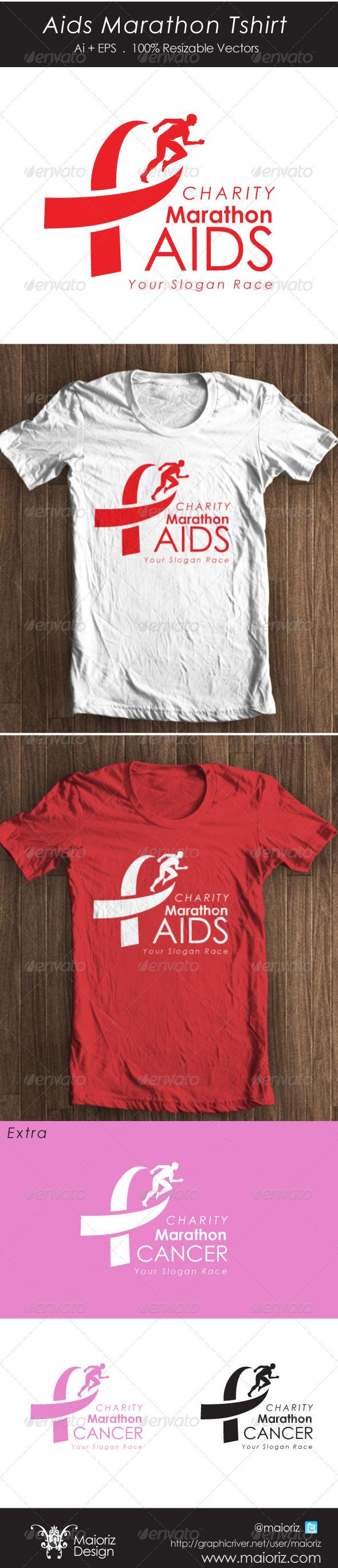 GraphicRiver Aids Marathon Tshirt 4452614
