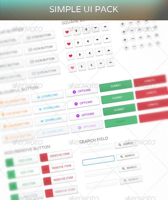 GraphicRiver Simple UI 4452793