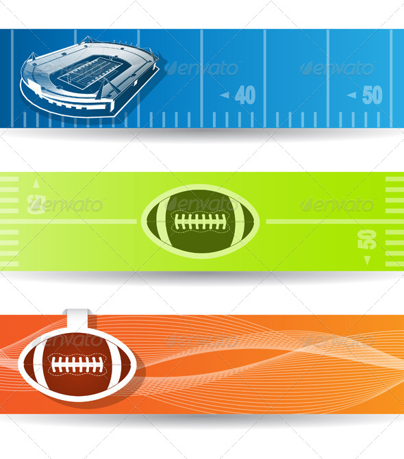 GraphicRiver American Football Web Banners 4452796