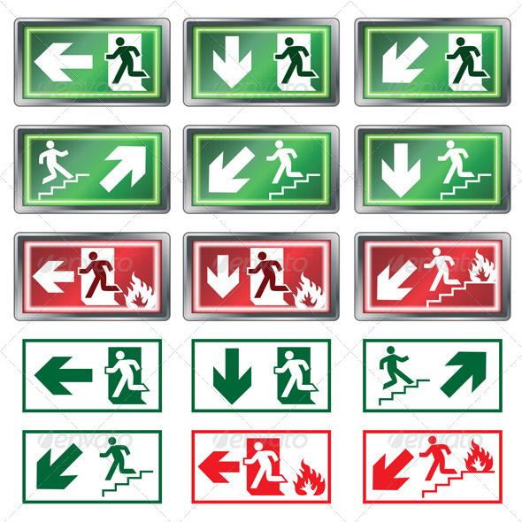 GraphicRiver Evacuation Signs 4452878