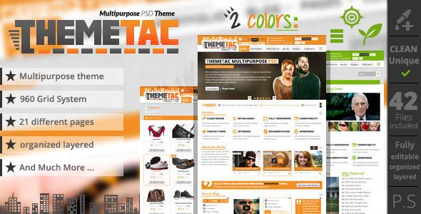 ThemeForest ThemeTac Multipurpose PSD Theme 4360139