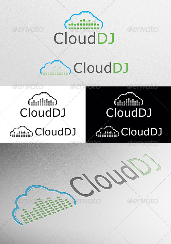 GraphicRiver Cloud DJ Logo 4453208