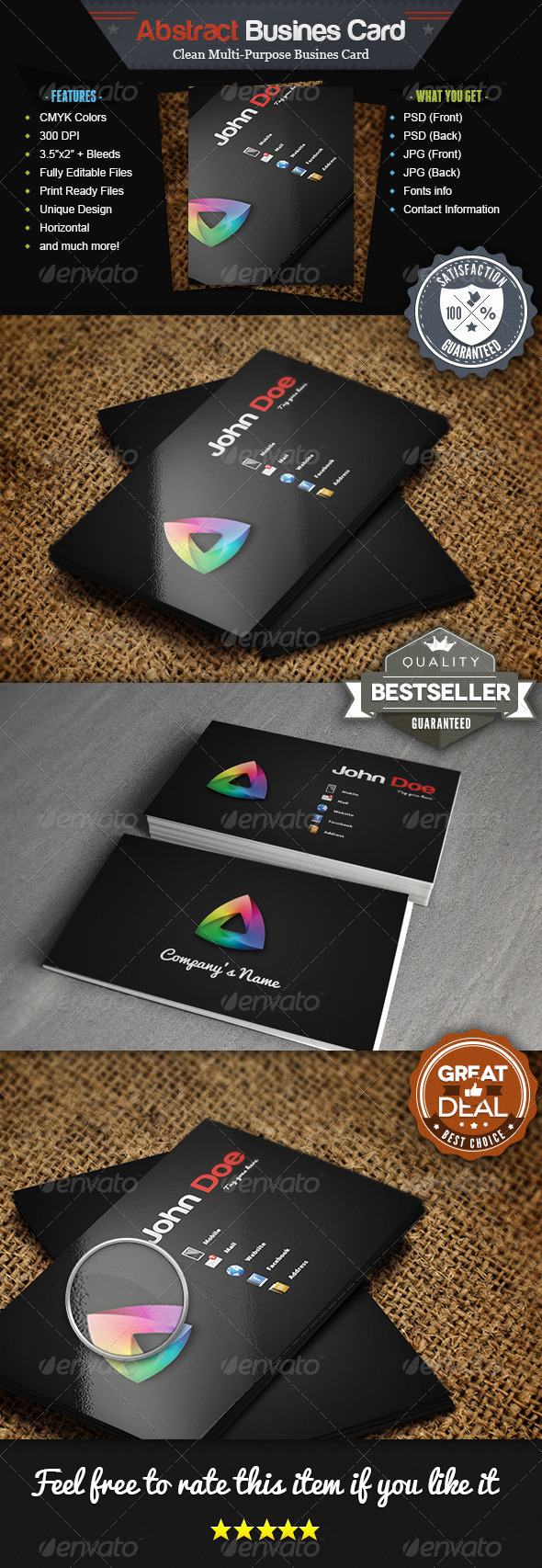 GraphicRiver Abstract Multi Purpose Business Card 4453349