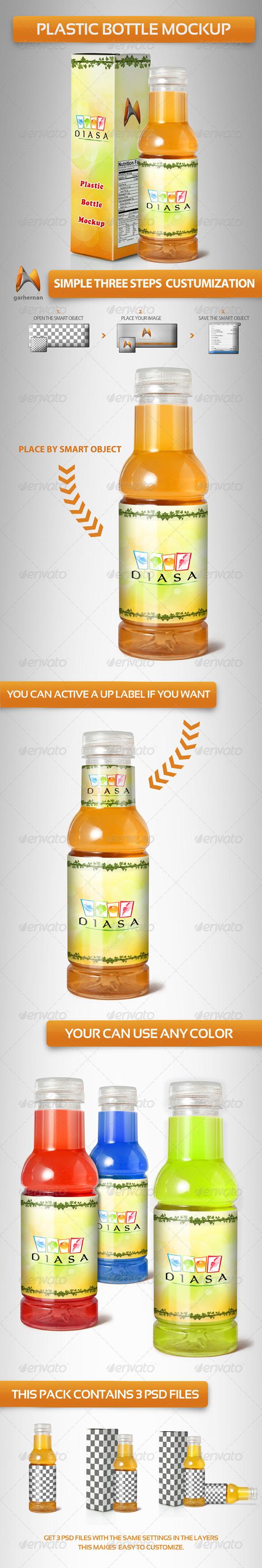 GraphicRiver Plastic Bottle Mockup 4453386