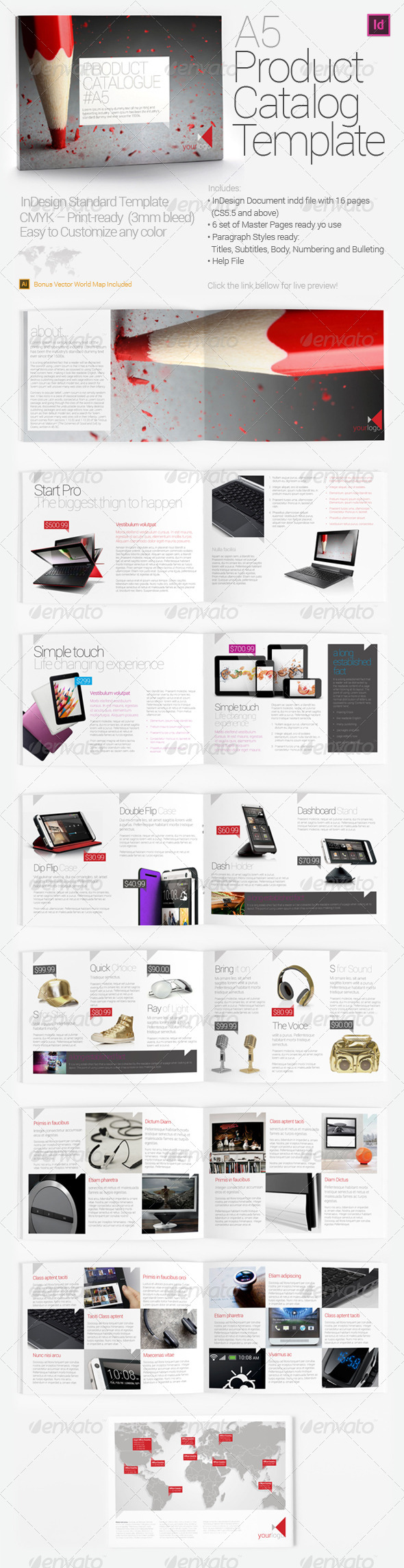 GraphicRiver A5 Product Catalog Template 4453390