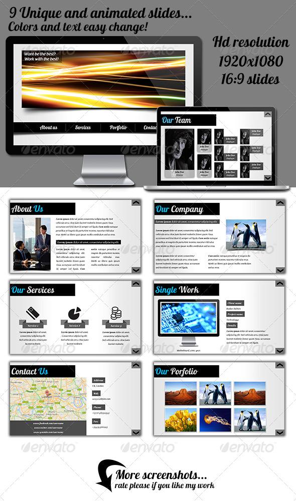 GraphicRiver Web Style Keynote Presentation 4453425