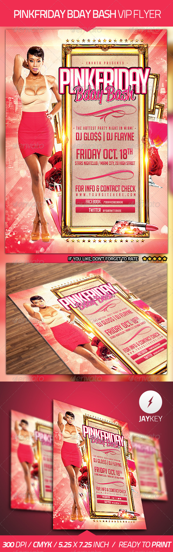 GraphicRiver Bday Bash Party Flyer 4453635