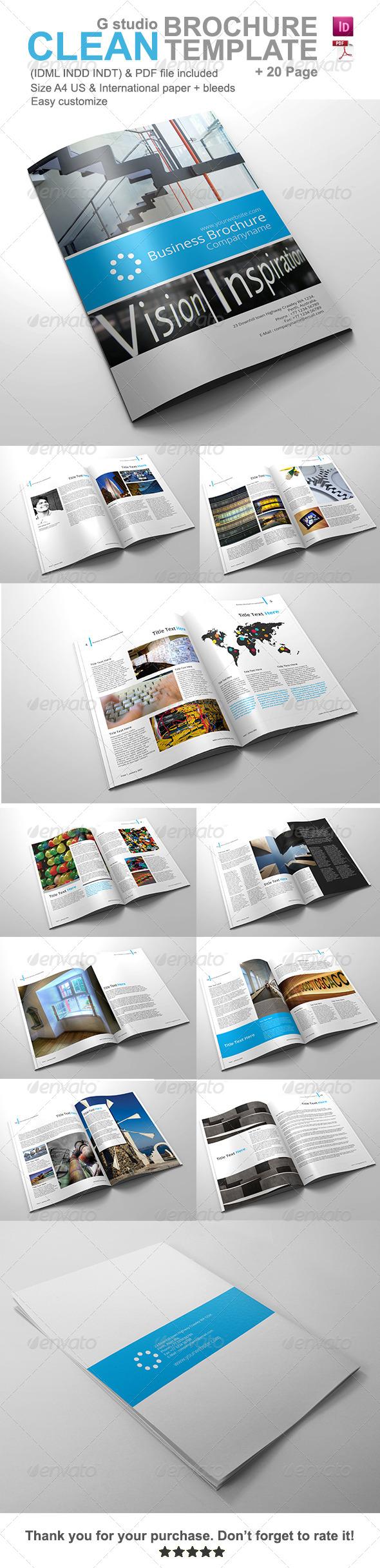 GraphicRiver Gstudio Clean Brochure Template V2 4453743